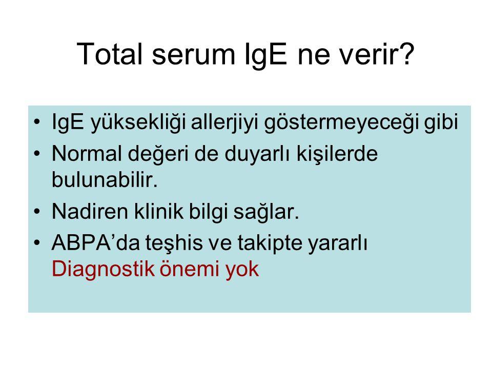 Total serum IgE ne verir