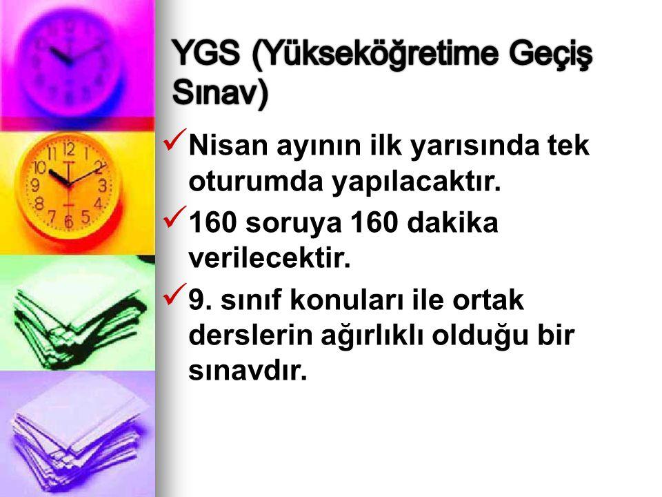 YGS (Yükseköğretime Geçiş Sınav)