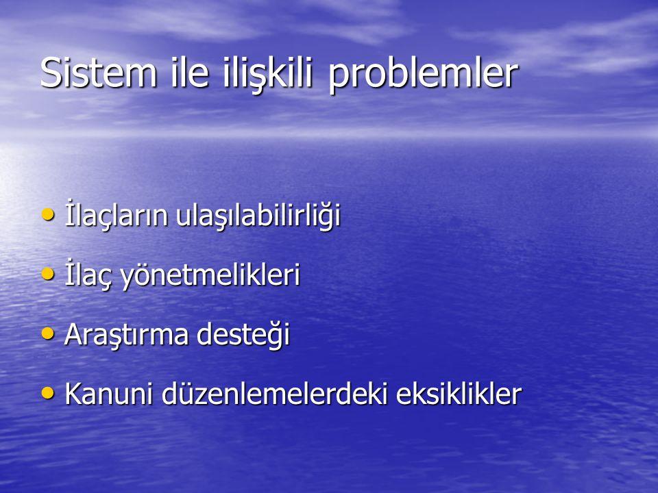 Sistem ile ilişkili problemler