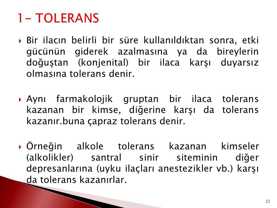 1- TOLERANS