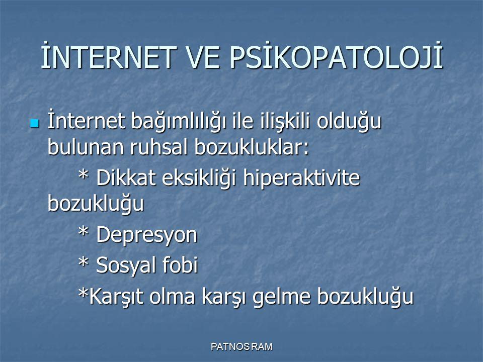 İNTERNET VE PSİKOPATOLOJİ