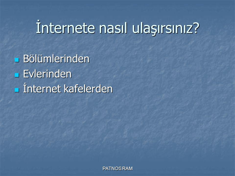 İnternete nasıl ulaşırsınız