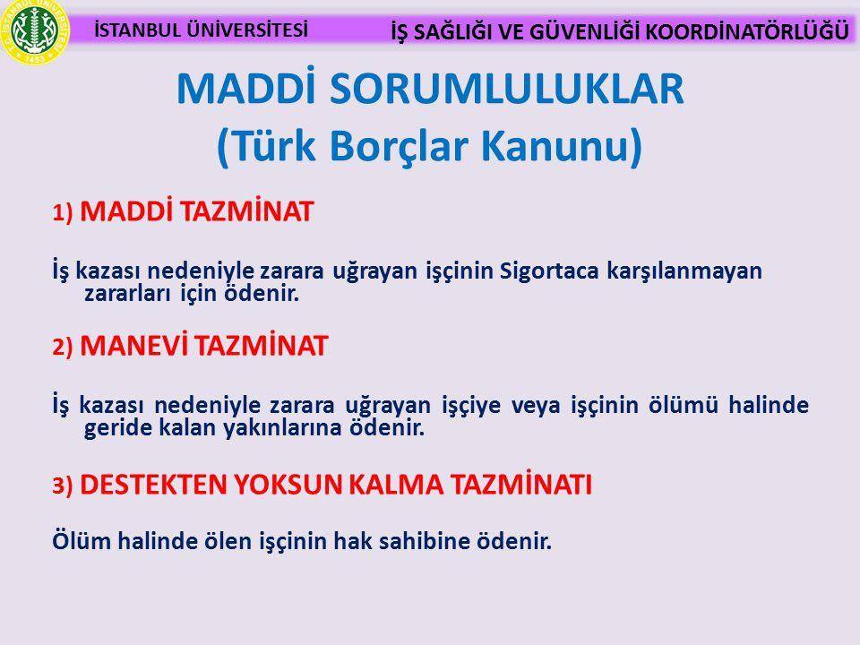MADDİ SORUMLULUKLAR (Türk Borçlar Kanunu)