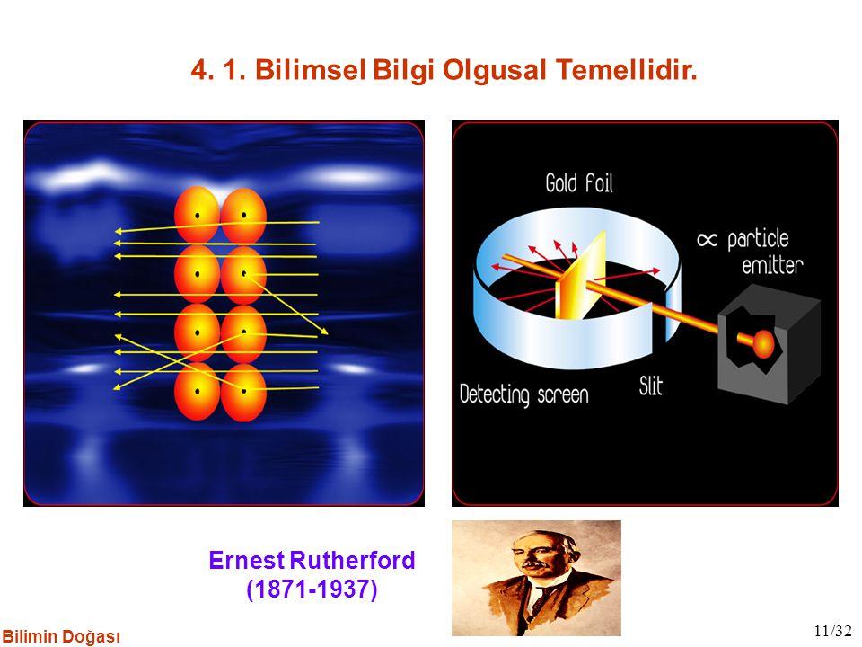 4. 1. Bilimsel Bilgi Olgusal Temellidir.