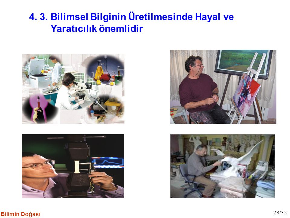 4. 3. Bilimsel Bilginin Üretilmesinde Hayal ve Yaratıcılık önemlidir
