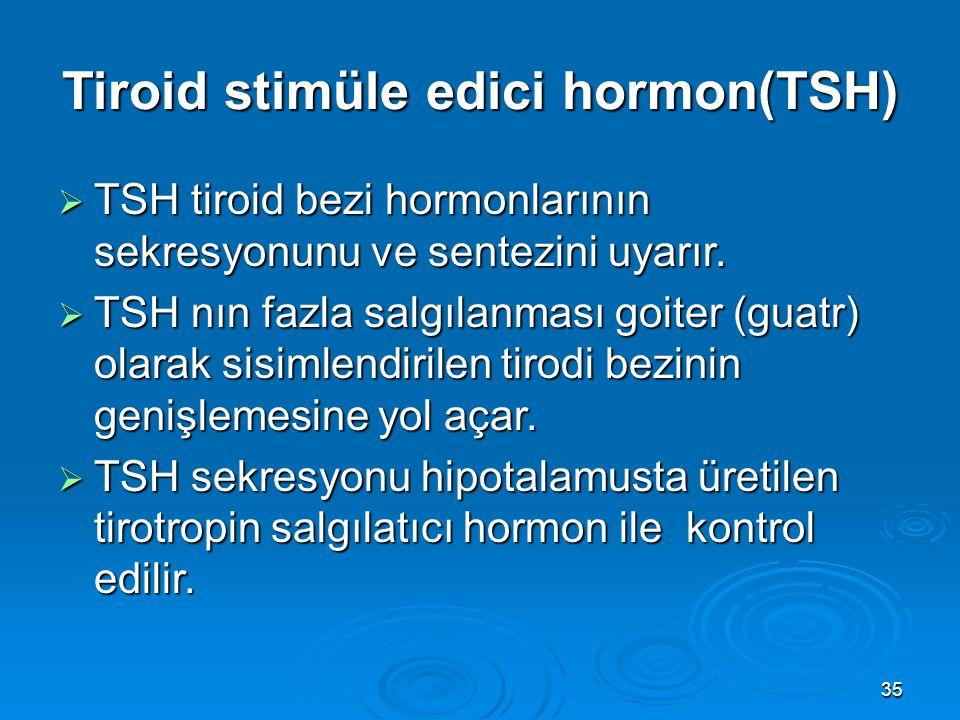 Tiroid stimüle edici hormon(TSH)