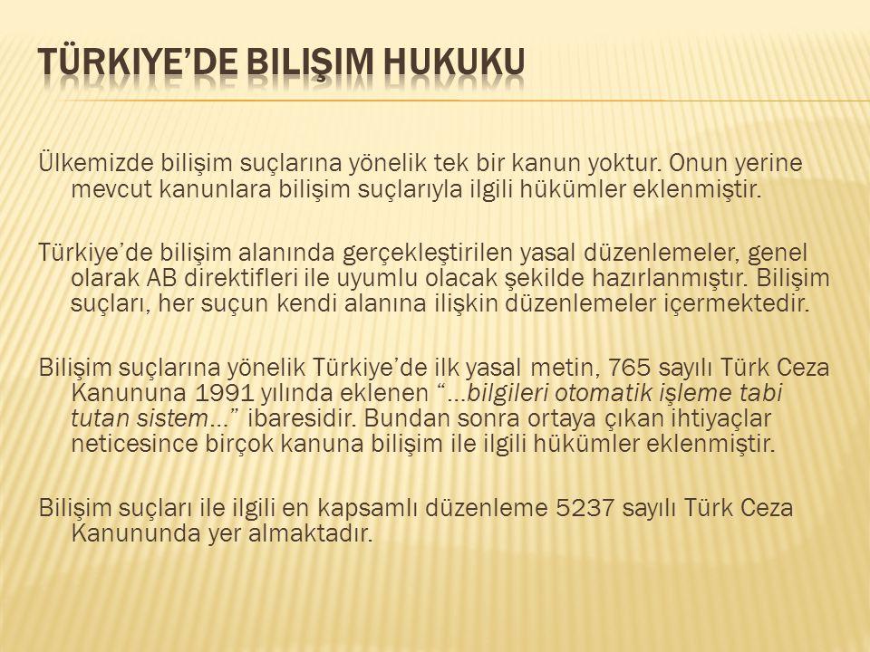 Türkiye'de Bilişim Hukuku