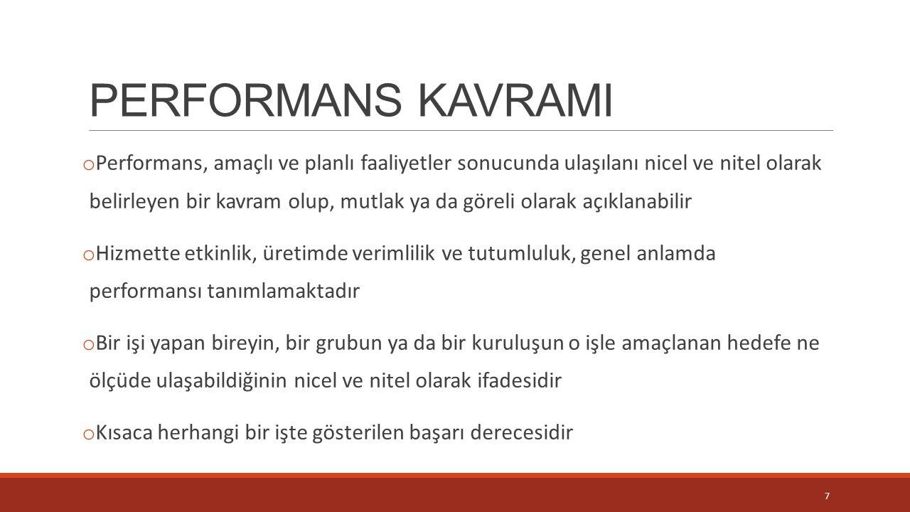 PERFORMANS KAVRAMI