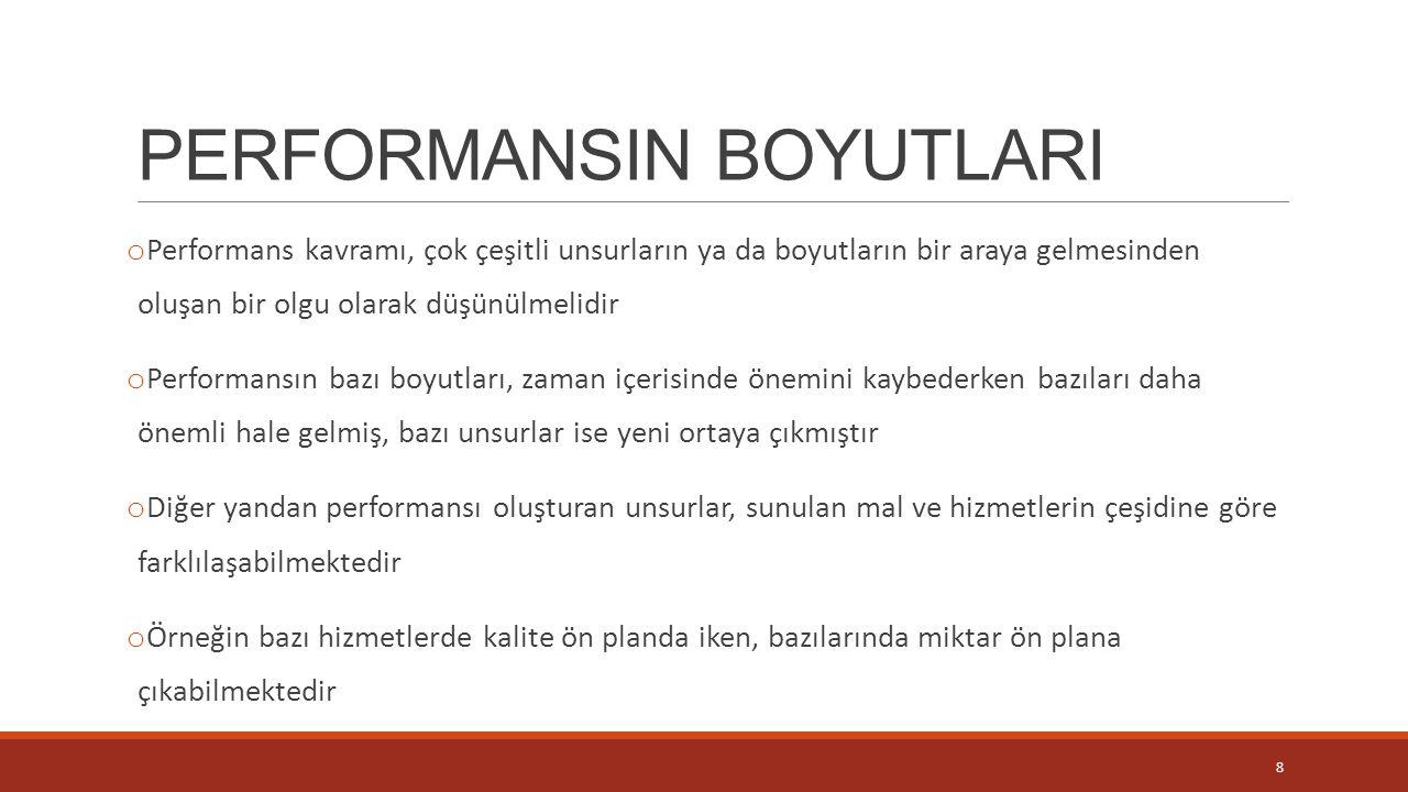 PERFORMANSIN BOYUTLARI