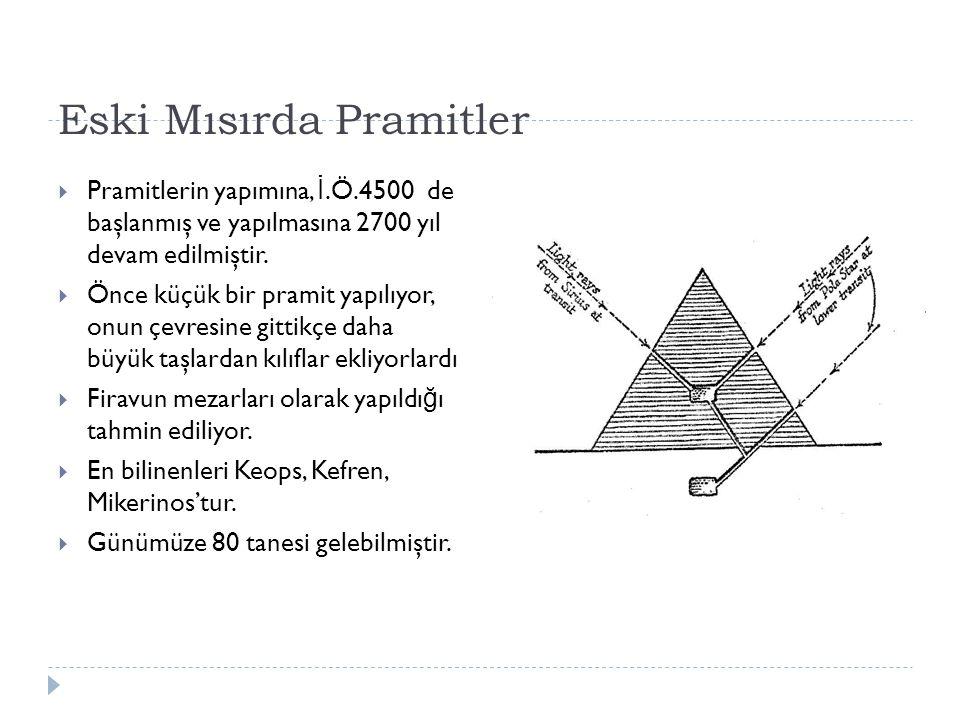 Eski Mısırda Pramitler