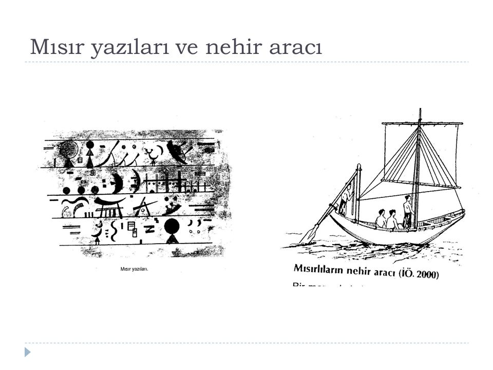Mısır yazıları ve nehir aracı
