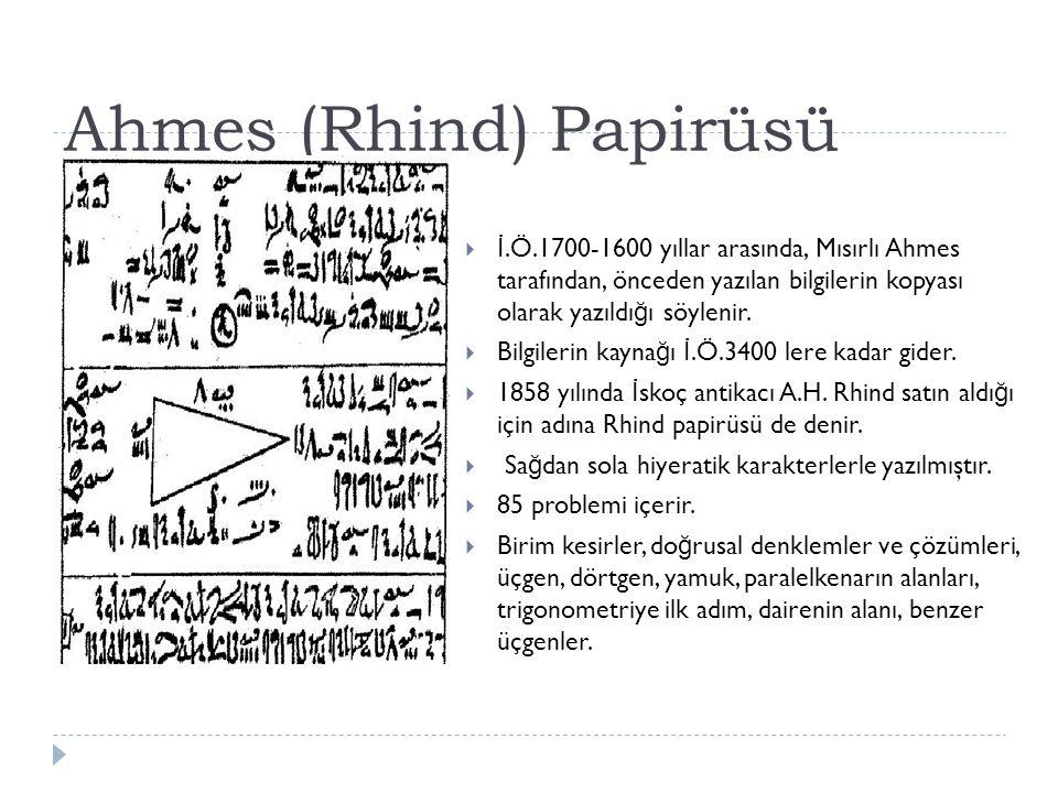 Ahmes (Rhind) Papirüsü