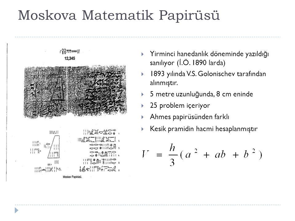 Moskova Matematik Papirüsü