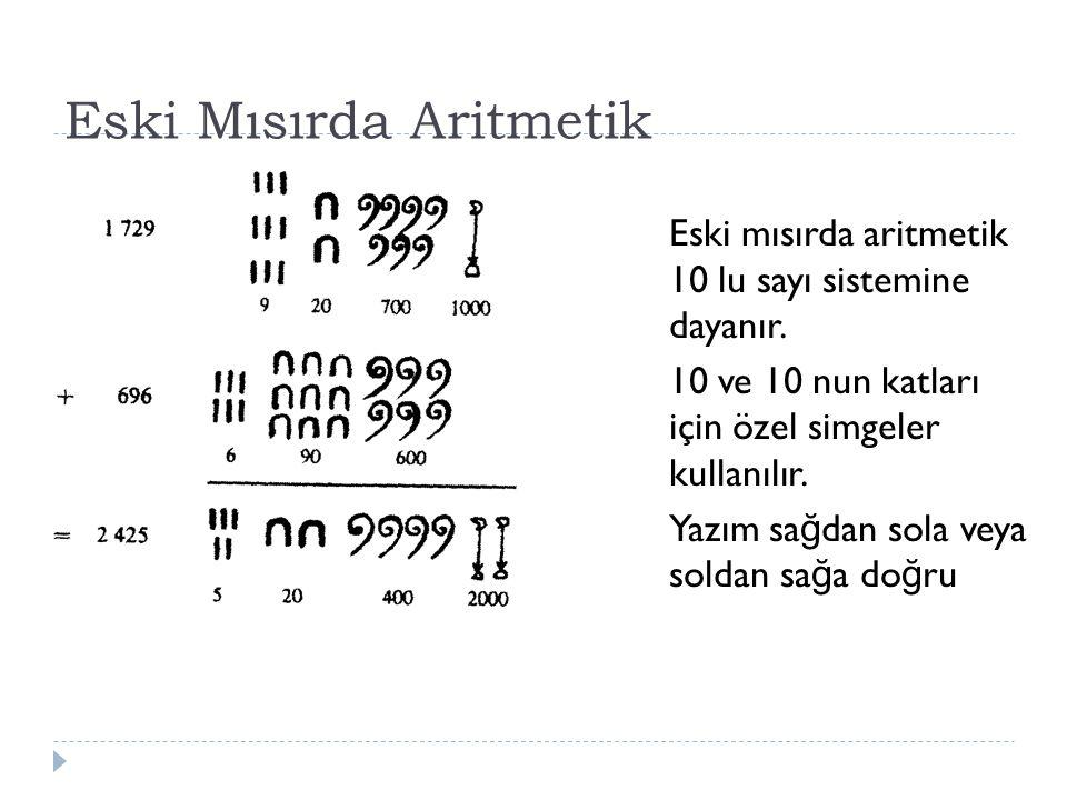 Eski Mısırda Aritmetik