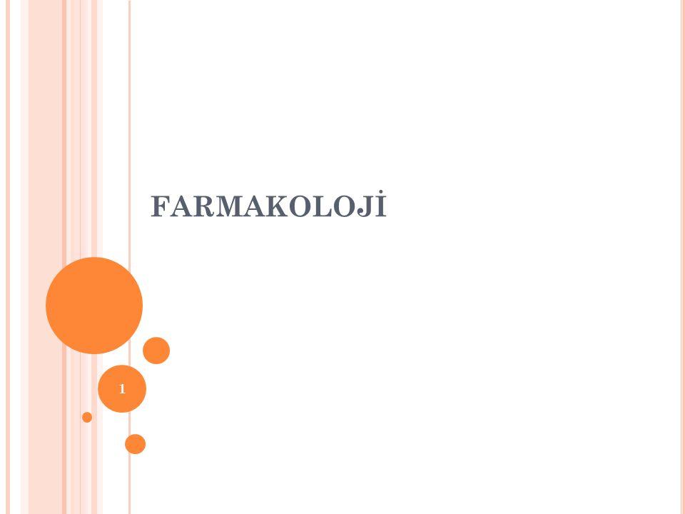 FARMAKOLOJİ