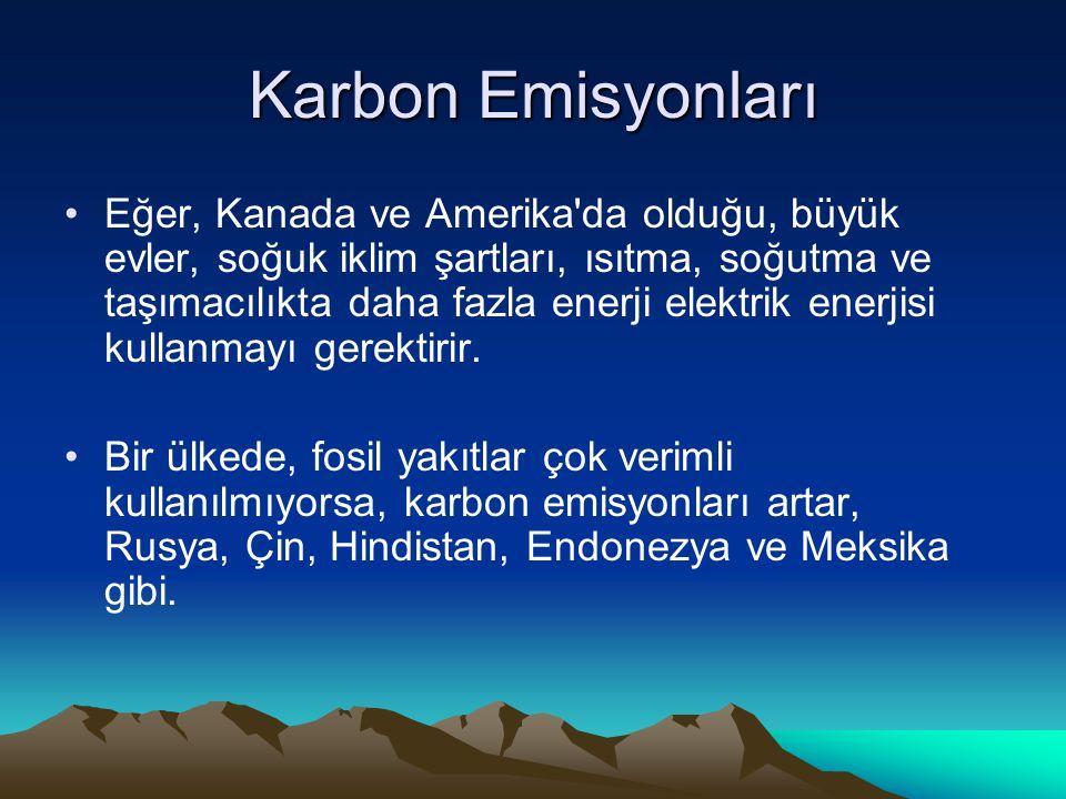 Karbon Emisyonları