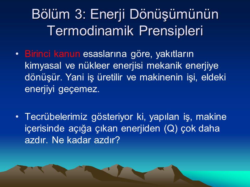 Bölüm 3: Enerji Dönüşümünün Termodinamik Prensipleri