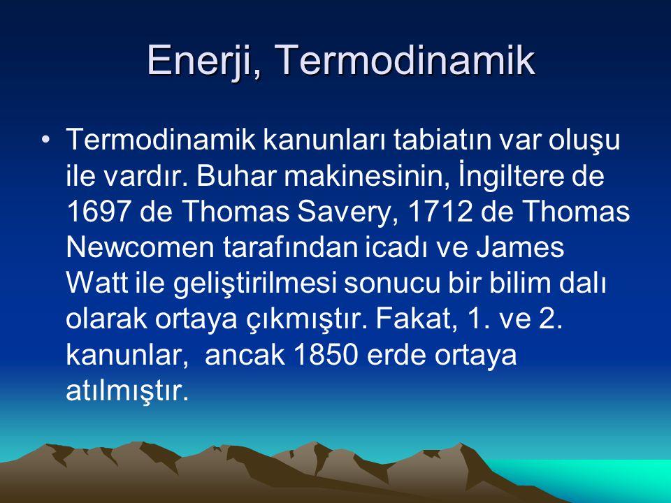 Enerji, Termodinamik