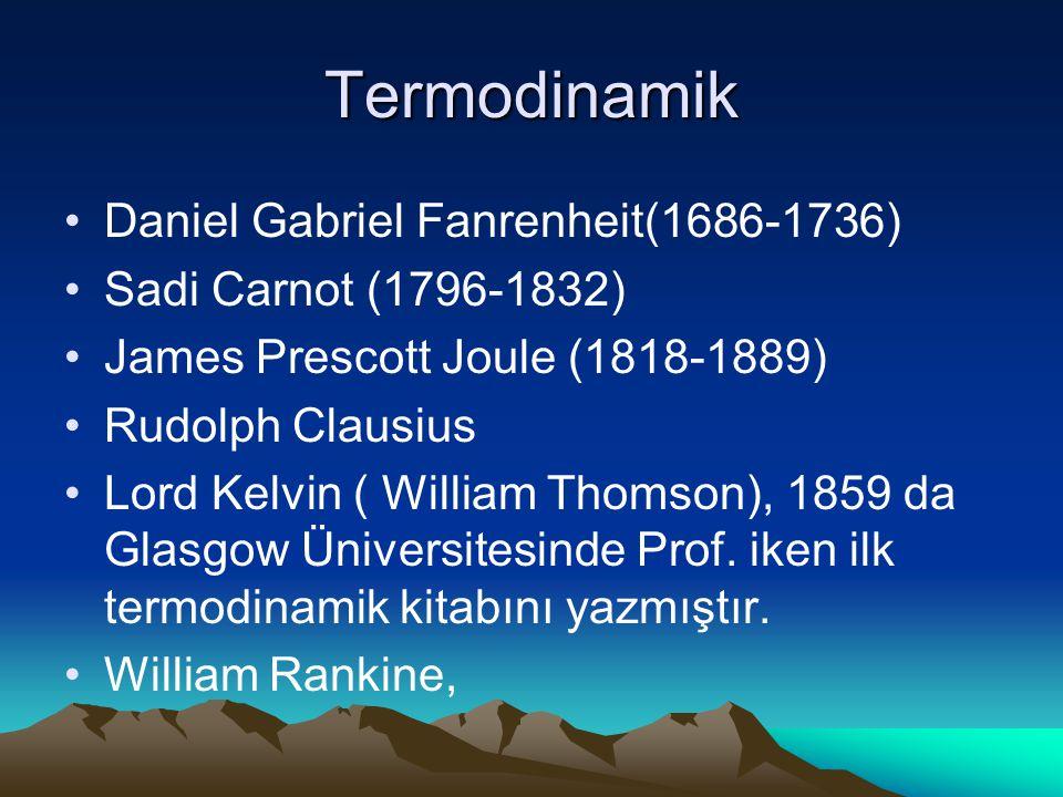 Termodinamik Daniel Gabriel Fanrenheit(1686-1736)