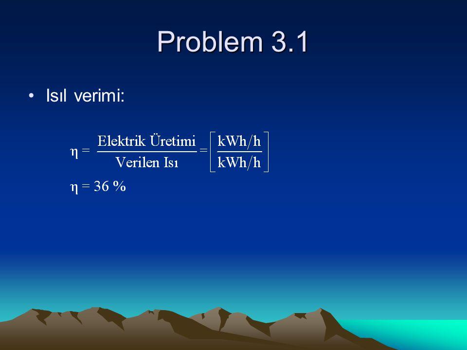 Problem 3.1 Isıl verimi: