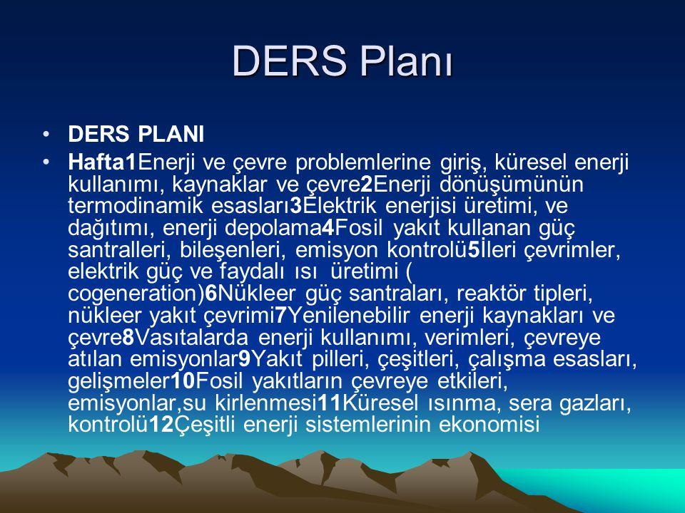 DERS Planı DERS PLANI.
