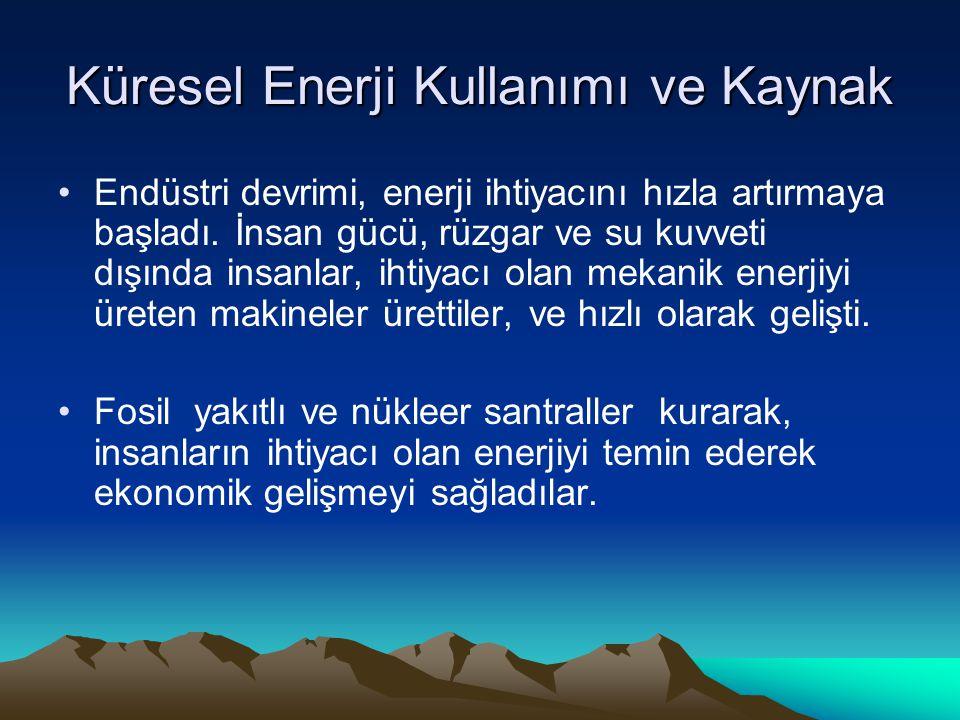 Küresel Enerji Kullanımı ve Kaynak