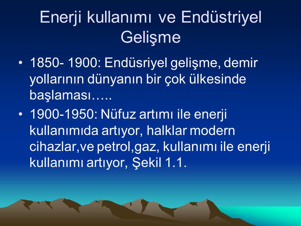 Enerji kullanımı ve Endüstriyel Gelişme