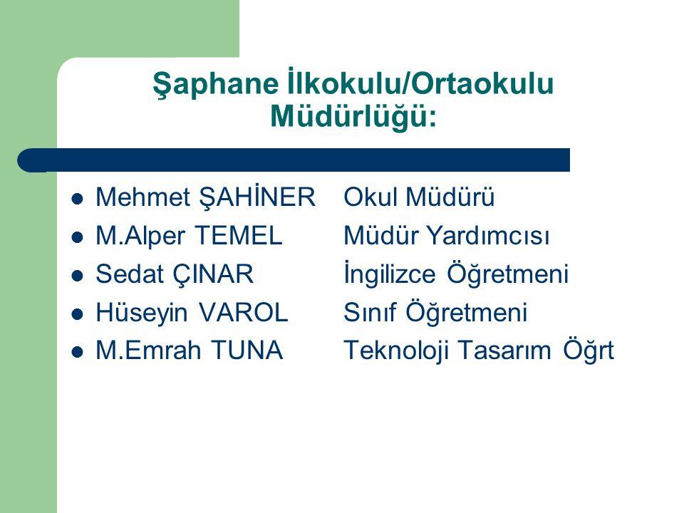 Şaphane İlkokulu/Ortaokulu Müdürlüğü: