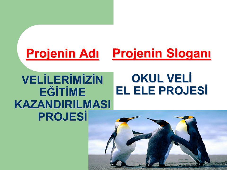 Projenin Sloganı OKUL VELİ EL ELE PROJESİ