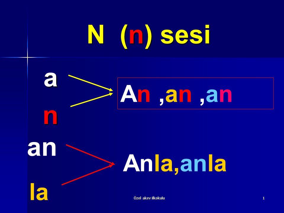 N (n) sesi a n An ,an ,an an Anla,anla la Özel akev ilkokulu