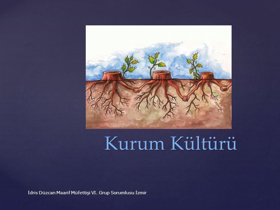 Kurum Kültürü İdris Düzcan Maarif Müfettişi VI. Grup Sorumlusu İzmir