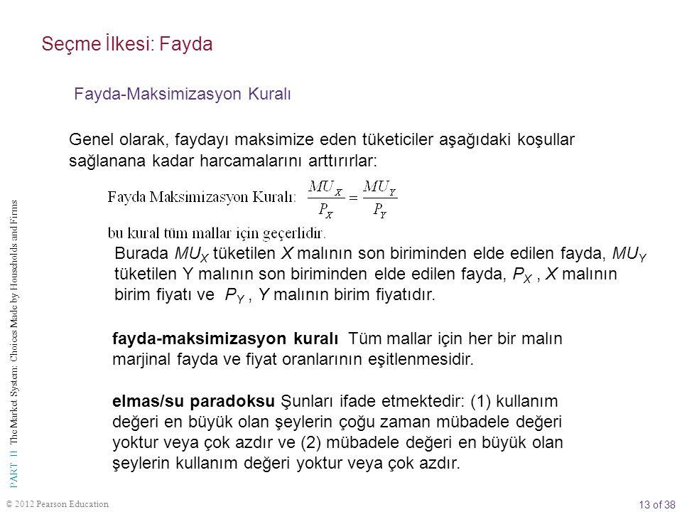 Seçme İlkesi: Fayda Fayda-Maksimizasyon Kuralı