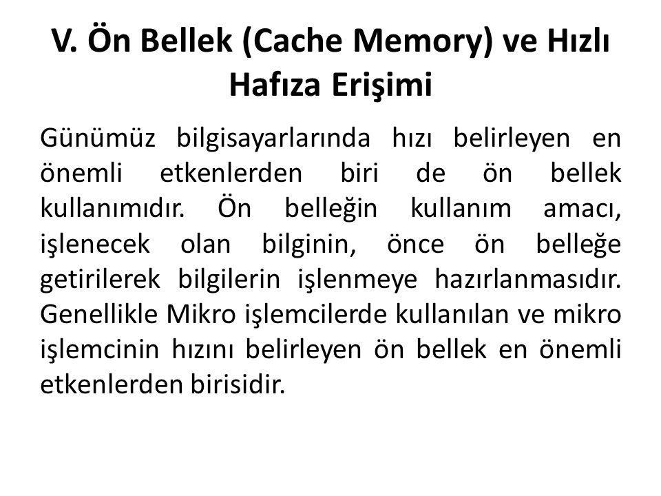 V. Ön Bellek (Cache Memory) ve Hızlı Hafıza Erişimi
