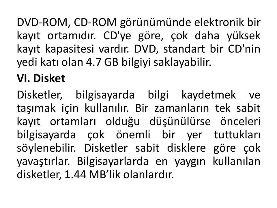 DVD-ROM, CD-ROM görünümünde elektronik bir kayıt ortamıdır