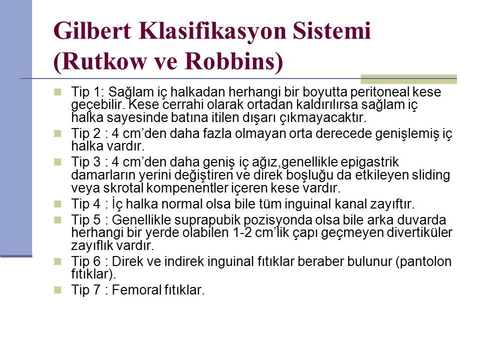 Gilbert Klasifikasyon Sistemi (Rutkow ve Robbins)