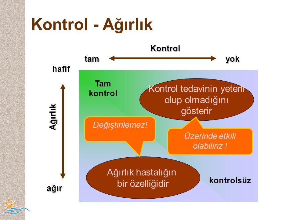 Kontrol - Ağırlık Kontrol tam yok Ağırlık Kontrol tedavinin yeterli