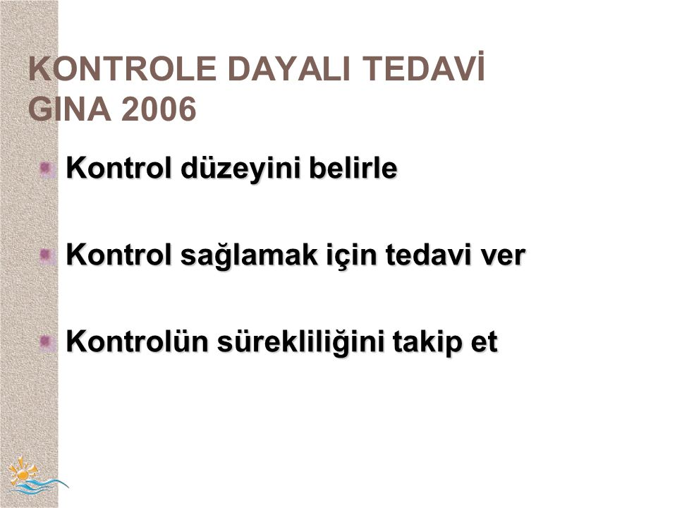 KONTROLE DAYALI TEDAVİ GINA 2006