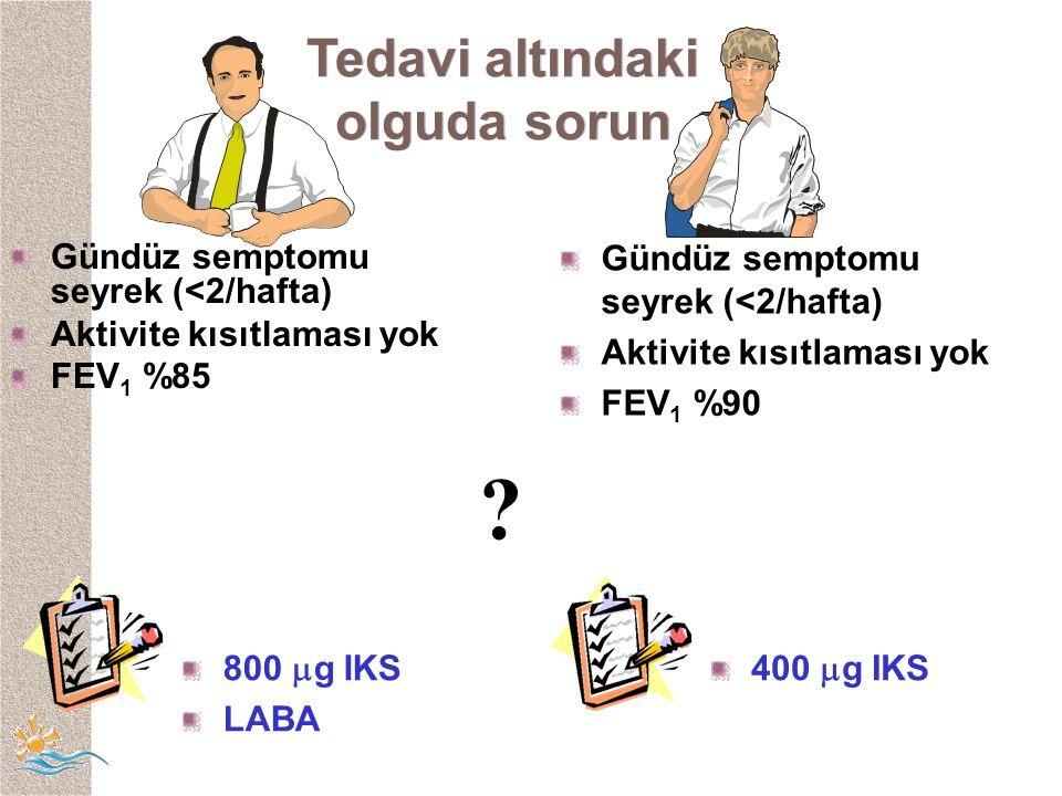Tedavi altındaki olguda sorun Gündüz semptomu seyrek (<2/hafta)