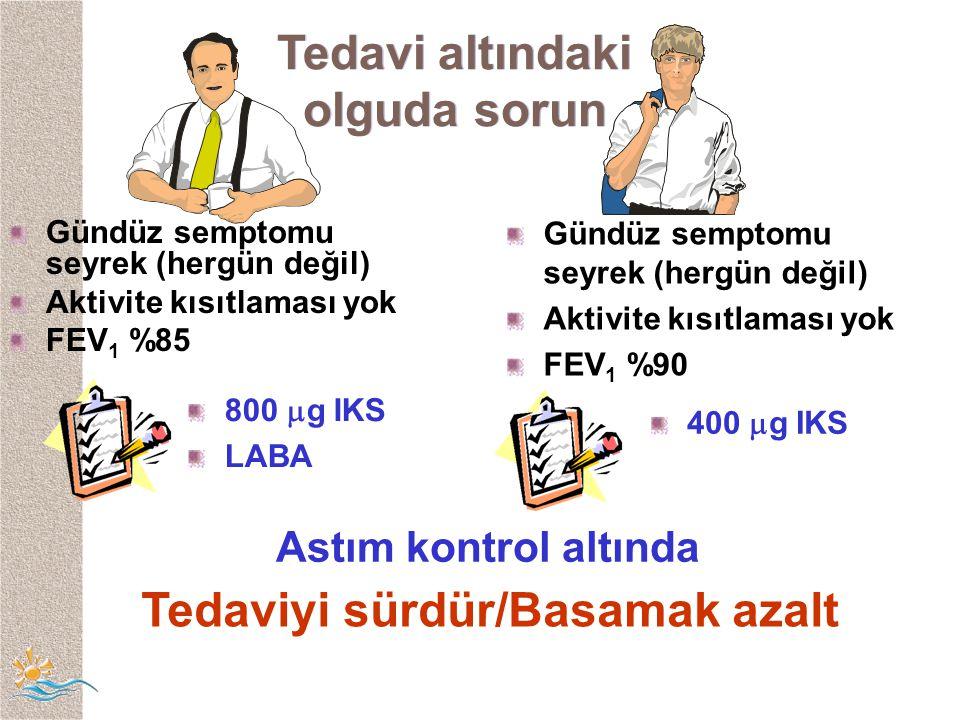 Tedaviyi sürdür/Basamak azalt