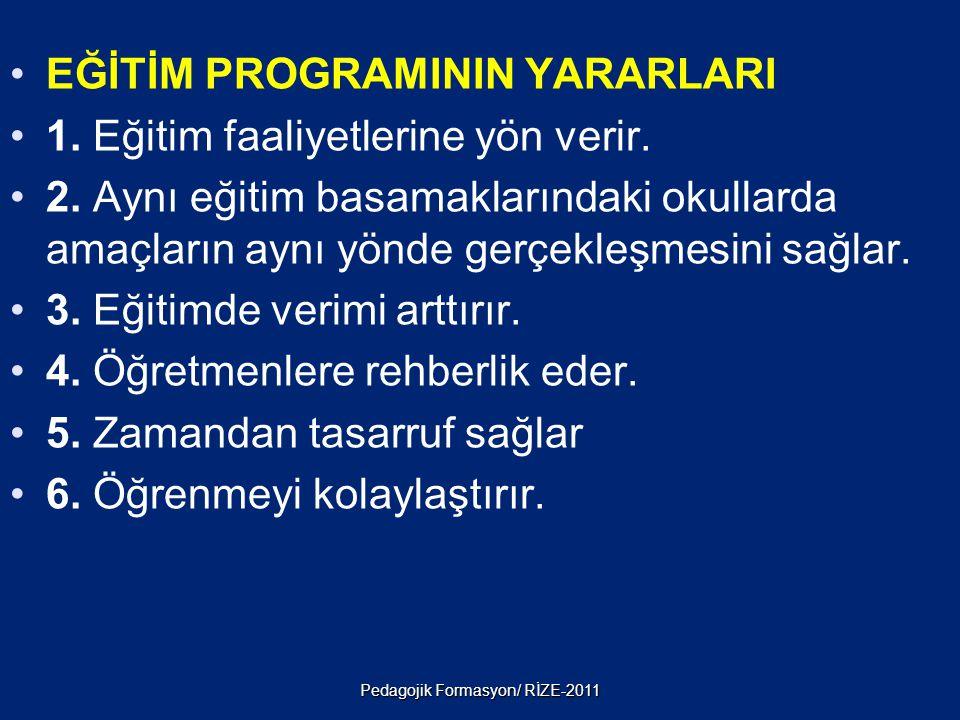 Pedagojik Formasyon/ RİZE-2011