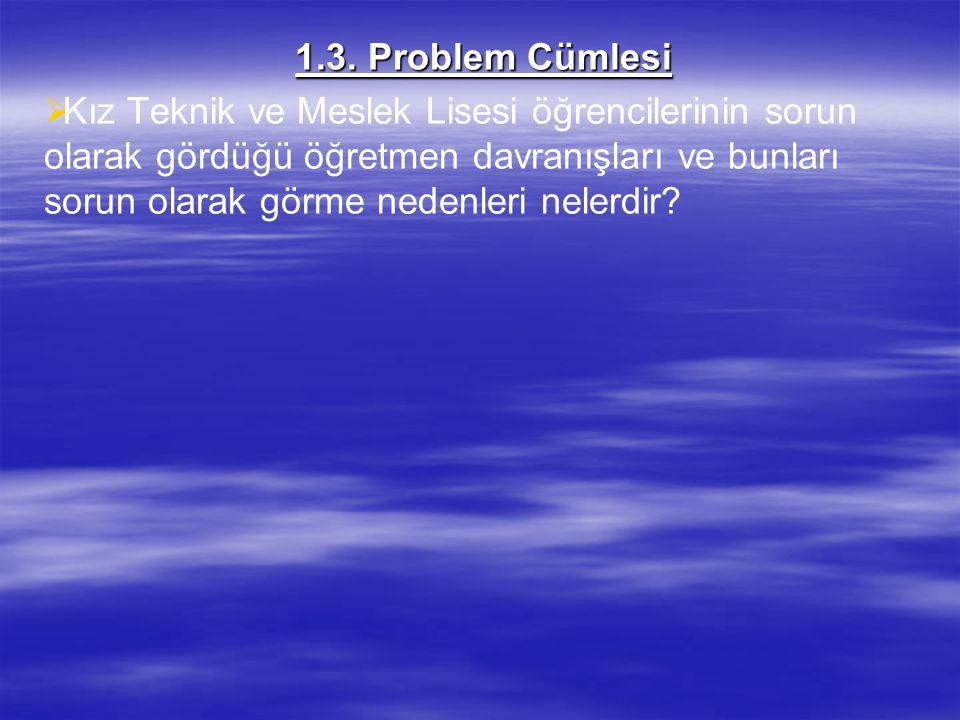 1.3. Problem Cümlesi