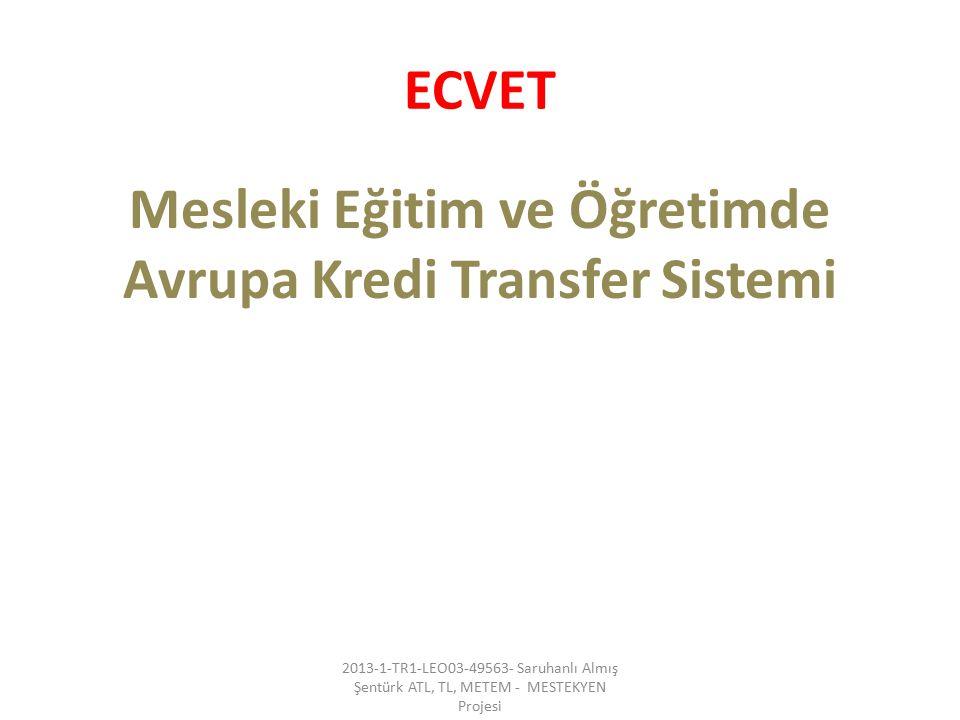 Mesleki Eğitim ve Öğretimde Avrupa Kredi Transfer Sistemi