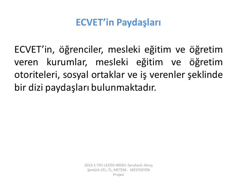 ECVET'in Paydaşları
