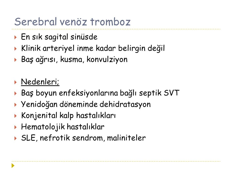 Serebral venöz tromboz