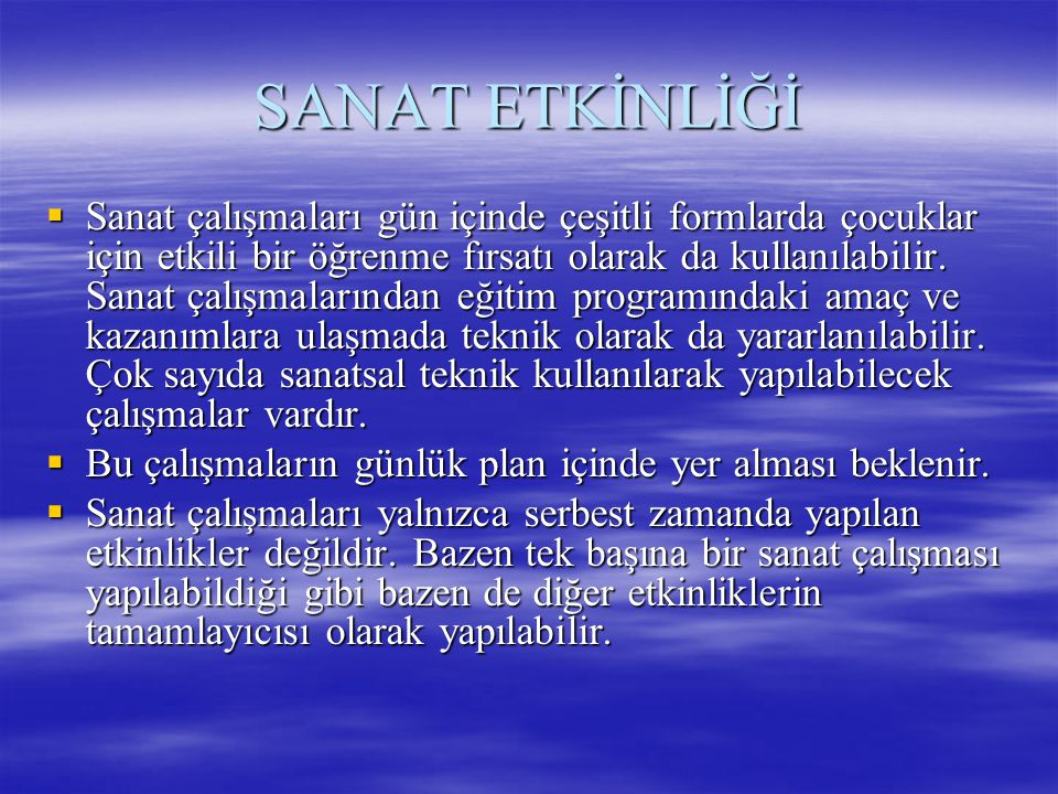SANAT ETKİNLİĞİ