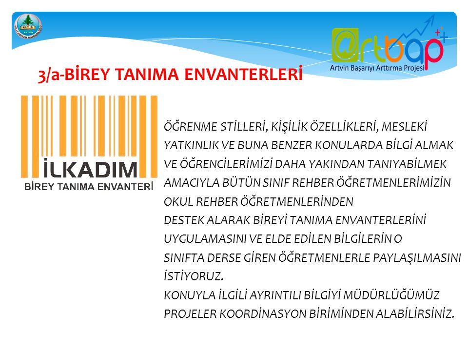 3/a-BİREY TANIMA ENVANTERLERİ
