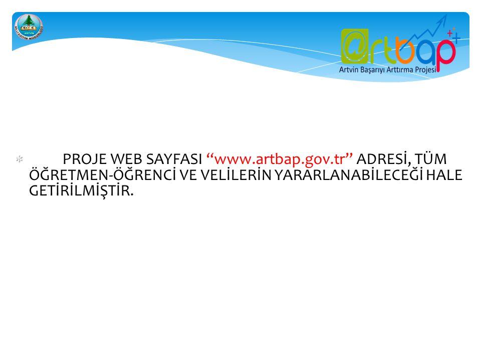 PROJE WEB SAYFASI www. artbap. gov