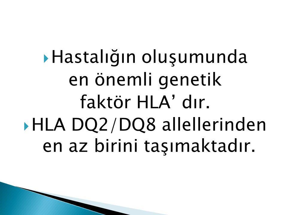 Hastalığın oluşumunda en önemli genetik faktör HLA' dır.
