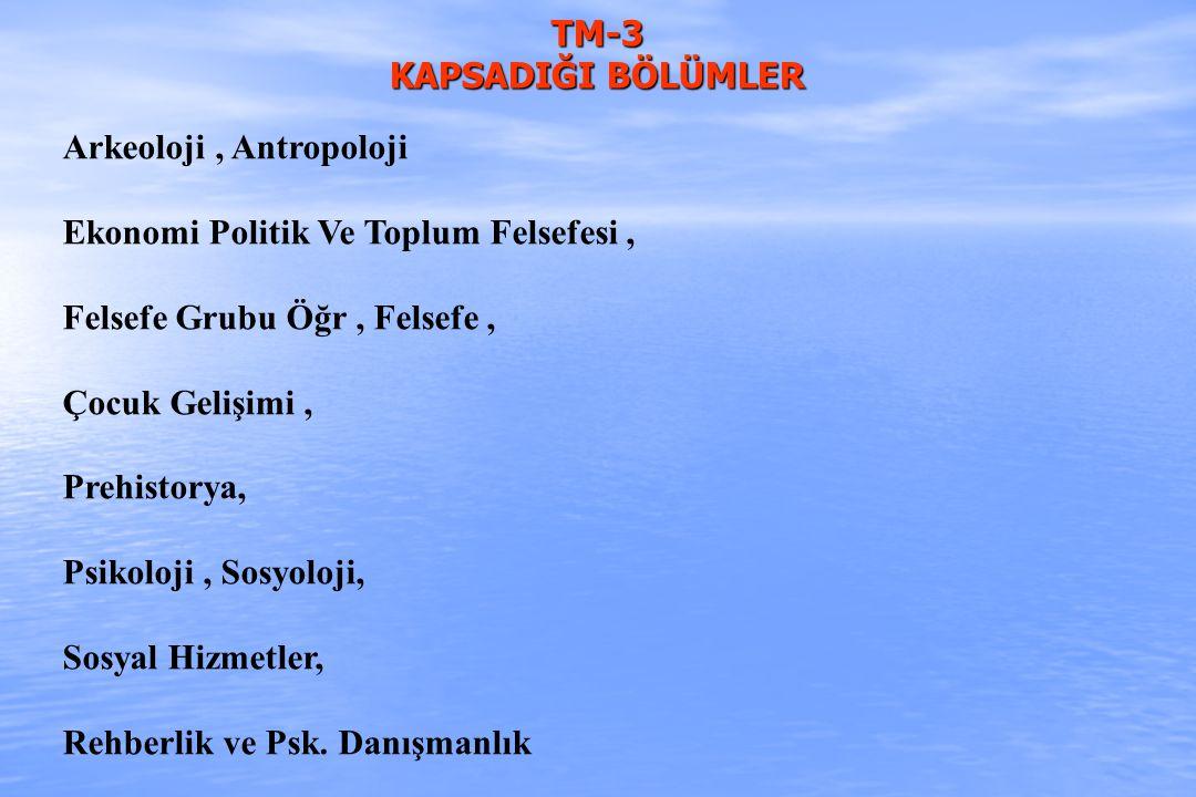 TM-3 KAPSADIĞI BÖLÜMLER