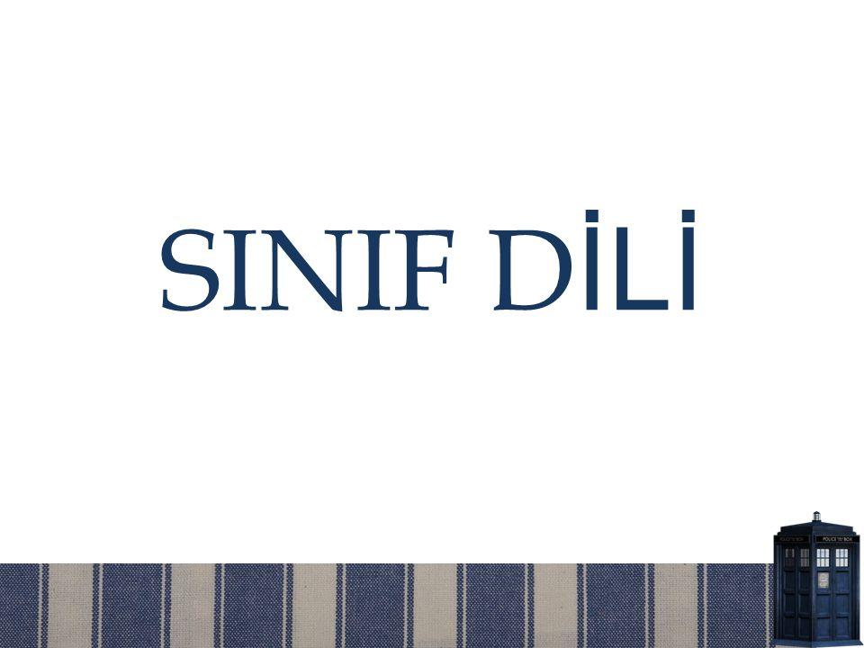 SINIF DİLİ